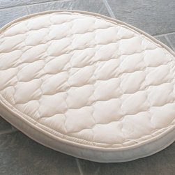 Crib Mattress - 100% Natural Latex' - No off gasing. Anti-microbial. Dust mite resistant. Mildew resistant. Hypo-allergenic. Naturally flame retardant 100%-natural rubber Crib Mattress offers a comfortable, solid support
