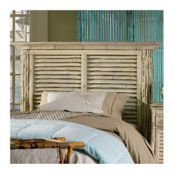 "Kenian - Coastal Chic Louvered Headboard - Features: -Material: Rattan.-Fits any standard bed frame.-Coastal Chic collection.-Gloss Finish: Yes.-Number of Products in Set: 2.-Frame Material: Rattan / Bamboo.-Upholstered: No.-Powder Coated Finish: No.-Scratch Resistant: No.-Adjustable Height: No.-Wood Molding: No.-Lighting Included: No.-Light Type: No.-Wall Mounted: No.-Reversible: No.-Media Outlet Hole: No.-Built In Outlets: No.-Distressed: No.-Hidden Storage: No.-Freestanding: No.-Frame Required: No.-Frame Included: No.-Drill Holes for Frame: No.-Frame Compatibility: Fits most standard bed frames.-Swatch Available: No.-Eco-Friendly: Yes.-Commercial Use: Yes.-Recycled Content: No.Dimensions: -Twin: 49"" H x 40.5"" W x 5"" D.-Queen: 49"" H x 62.5"" W x 5"" D.-King: 49"" H x 78.5"" W x 5"" D.-Overall Height - Top to Bottom (Size: King, Queen, Twin): 49"".-Overall Depth - Front to Back (Size: King, Queen, Twin): 5"".-Overall Product Weight (Size: Twin): 63 lbs.-Overall Product Weight (Size: Queen): 94 lbs.-Overall Product Weight (Size: King): 114 lbs.-Bottom of Headboard to Floor: 18""."