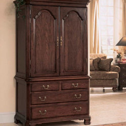 American Drew Cherry Grove Door Chest in Antique Cherry