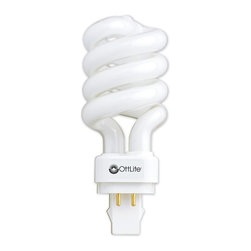OttLite - 18 Watt Plug Spiral HD Bulb - Set of 6 - Set of 6. Low heat, low glare illumination helps reduce eyestrain. For use only as a replacement bulb with specific OttLite lamps. Energy efficient bulb rated to last up to 10,000 hours . 8 in. L x 3 in. W x 10 in. H (1 lbs.)18W replacement bulb delivers the right mix of brightness and contrast to bring true colors and comfortable clarity to your world so you can enjoy your time even more. You'll see colors accurately so you can make selections with total confidence. And, you'll see fine print and details with ease under this unique low heat, low glare illumination that helps reduce eyestrain.