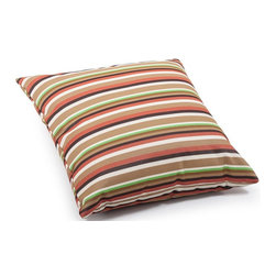 Zuo Modern - Multistripe Large Pillow - Warranty: One year limited. Made from foam. Brown color. No assembly required. 21.3 in. L x 21.3 in. W x 6.7 in. H (3.1 lbs.)