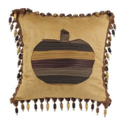 Chooty and Co Passion Suede Tuscan Pumpkin Throw Pillow - Give your decor a rustic seasonal accent with the Chooty and Co Passion Suede Tuscan Pumpkin Throw Pillow. Perfect for fall, this charming throw features a soft poly suede cover stuffed with a comfy hypoallergenic poly fill. A patchwork pumpkin and beaded seam make it a perfect way to complement your decor from the end of summer to the start of winter.About Chooty & Co.A lifelong dream of running a textile manufacturing business came to life in 2009 for Connie Garrett of Chooty & Co. This achievement was kicked off in September of '09 with the purchase of Blanket Barons, well known for their imported soft as mink baby blankets and equally alluring adult coverlets. Chooty's busy manufacturing facility, located in Council Bluffs, Iowa, utilizes a talented team to offer the blankets in many new fashion-forward patterns and solids. They've also added hundreds of Made in the USA textile products, including accent pillows, table linens, shower curtains, duvet sets, window curtains, and pet beds. Chooty & Co. operates on one simple principle: What is best for our customer is also best for our company.