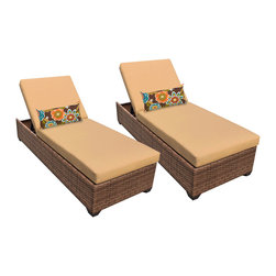 TKC - Tuscan Chaise Set of 2 Outdoor Wicker Patio Furniture 2 for 1 Cover Set - Features: