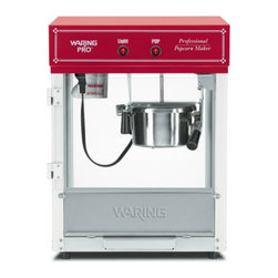 """Waring Pro - Waring Pro WPM40 Professional Popcorn Maker - WPM40 - Shop for Popcorn Makers from Hayneedle.com! Calling all Kernel Colonels the Waring Pro WPM40 Professional Popcorn Maker is here for all your popcorn needs. This 600-watt popper makes approximately 12 cups of popcorn in less than 2.5 minutes perfect for when you need a popcorn fix fast. A built-in heat lamp keeps the popcorn warm so you don't have to worry about cold 'corn. The pivoting kettle and doors are removable for easy cleanup.About WaringIf you've ever used a blender you can thank Fred Waring inventor of the """"blendor"""" or as he first called it """"the disintegrating mixer."""" That was back in 1936. Since then he has changed the name to blender and established Waring a global company that proudly makes professional-quality kitchen products. The company has two product divisions: Waring Pro and a commercial division. In recent years Waring Pro has broadened its market reach with everything from deep fryers and waffle makers to wine chillers and food dehydrators."""