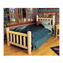 """Rustic Cedar - Rustic Slat Headboard - Add warmth and charm to your home or retreat with these cedar log beds. This Twin Headboard will add a simple understated beauty and elegance to your bedroom. Features: -Rustic collection.-Cedar is the natural choice because of its beauty, practicality and durability. Rustic Cedar uses only the finest cedar to create furniture that lasts for generations. It's naturally resistant to decay, insect and weather damage. Because of this superior resistance, cedar is frequently used for outdoor fencing, and siding on homes. Cedar has an exceptionally high strength-to-weight ratio, which means that It's both durable and easy to move about. It does not shrink or wrap as many other woods commonly do. Unlike pressure-treated wood furniture, Rustic Cedar uses no chemical preservatives that may be harmful to your family's health.All cedar log furniture is subject tothe natural process of checkingas the wood ''seasons.'' Checking occurs as wood releases moisture across or through the annual growth rings and it does not affect the structural performance or integrity of the wood. Therefore cracks in Cedar furniture are quite normal and can happen at any time. The cracks can vary in sizes but are sure to not affect the quality or resistance of the product as this is a natural process of Cedar furniture..-Finish: Unfinished.-Upholstered: No.-Wall Mounted: Yes.-Distressed: No.-Frame Compatibility: Standard metal frames.-Country of Manufacture: Canada.Dimensions: -Twin: 39'' W x 8"""" D.-Double:54'' W x 8"""" D.-Queen:60'' W x 8"""" D.-King:80'' W x 8'' D.Warranty: -Manufacturer provides 5 years limited."""