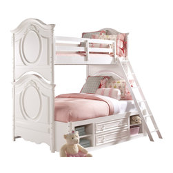 Samuel Lawrence - Samuel Twin/Full Bunk Bed with Underbed Storage in Bright White - SweetHeart is a youth collection with an inviting appeal that suggests style, function and elegance of design. The pleasing Bright White finish blends with any decor allowing you to make a fashion statement and put fun into decorating with an assortment of items that is sure to create a just right environment. Versatile and adaptable to any age, SweetHeart is sure to be a favorite choice of many families looking for a collection that will age gracefully and provide timeless long term appeal.