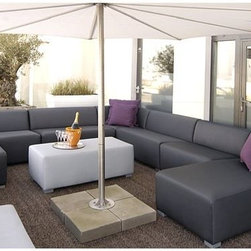 The Square Outdoor Sectional Seating - The simplistic, modern design of the modular Square collection gives you the diversity to create both round and straight settings.