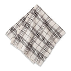 Khadhi Napkins, Plaid/Ivory