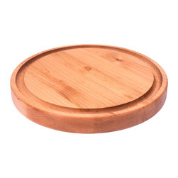 Gourmet Products - Round Ringed Cutting Board in Maple edge-grain wood.