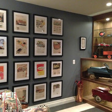 Eclectic Basement by Jamie Banfield Interior Designs