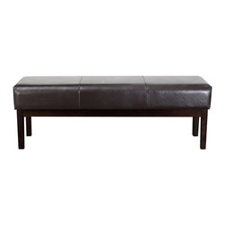Great Deal Furniture - Melrose Brown Leather Wooden Ottoman Bench - The Melrose brown leather ottoman bench makes a great piece for any room. Perfect as a coffee table, footstool or bench, the brown bonded leather allows this piece to suit most interior color schemes. The Melrose serves many functions without taking up space.