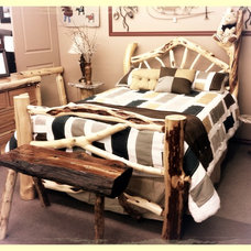 One of kind Log Bed  done by Mario's Log Work Ltd.