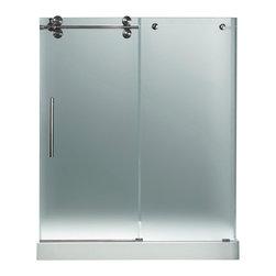 "VIGO Industries - VIGO 60-inch Frameless Shower Door 3/8"" Hardware, Left - Make your bathroom an oasis with a VIGO frameless shower door with matching 60"" x 36"" shower base."