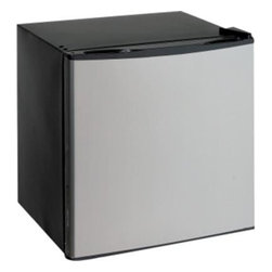 "Avanti - 1.4 Cu.ft Refrigerator or Freezer, Black with Platinum Door - Converts from Refrigerator to a Freezer, 1.4 Cu. Ft. Capacity, Euro-Style Rounded Door, Recessed Handle, Flush Back Design, Full Range Temperature Control, Reversible Door - Left or Right Swing, Product comes with Parcel Post Packaging, Color: Black with Platinum Door, Unit dimensions 20"" H x 18.5"" W x 17.75"" D"