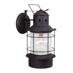 Vaxcel Lighting - Vaxcel Lighting OW37081TB Nautical Transitional Outdoor Wall Sconce - Vaxcel Lighting OW37081TB Nautical Transitional Outdoor Wall Sconce
