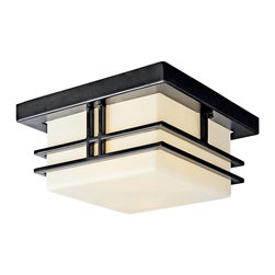 Kichler - Kichler Tremillo Flush Mount Outdoor Lighting Fixture in Black (Painted) - Shown in picture: Kichler Outdoor Flush Mt 2Lt Fluoresc in Black (Painted)