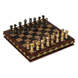 Benzara - Polystone Chess Set - If you are looking for low cost but rare to find elsewhere decor item to bring extra galore that could refresh the decor appeal of drawing tables, beautifully designed 81756 POLYSTONE CHESS SET may be a good choice.