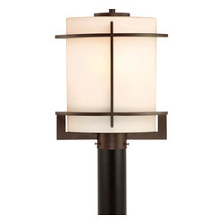 Quoizel - Quoizel Lighting Nolan 1 Light Outdoor Post Lantern in Western Bronze NN9013WT - Grace the exterior of your home with this bold, architectural look. The clean sleekness of the metalwork perfectly sets off the opal etched amber glass, which diffuses the light and has a touch of warmth in the color.