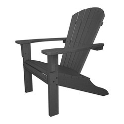 Polywood - 15.75 in. Eco-friendly Adirondack Chair - You'll feel like every day is a day at the beach when you kick back and relax in the contoured comfort of the oversized Polywood Seashell Adirondack. And because it doesn't require any of the maintenance real wood furniture does, it never needs to be painted, stained or waterproofed. It is resistant to corrosive substances, insects, fungi, salt spray and other environmental stresses.