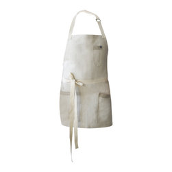 Sandy Bartender Apron - The beautiful, light color of this apron reminded us of soft white sand on the beach, so we named it Sandy.