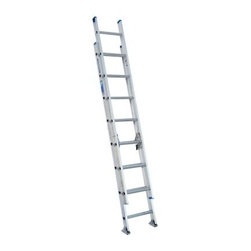 Werner D1316-2 16 ft. Aluminum Extension Ladder - Higher job duties are never out of reach with the Werner D1316-2 16 ft. Aluminum Extension Ladder. Made from heavy duty aluminum, this handy extension ladder features a 250-pound rating and a smooth pulley system for easy extension. Other features include mar-resistant end caps, interlocking 3-inch side rails, and slip-resistant 1-inch Traction-Tred D-rungs.About WernerWerner is an industry leader that has manufactured and distributed ladders and climbing equipment for over 60 years. Werner ladders are found on more trucks and job sites than all other brands combined. Each product offers a state-of-the-art design and manufacturing process, creating professional-grade products that are made to be utilized in the home as well as on the job site. Werner Co. products are built to meet or exceed all applicable American National Standards Institute (ANSI) and Occupational Safety and Health Administration (OSHA) code requirements.