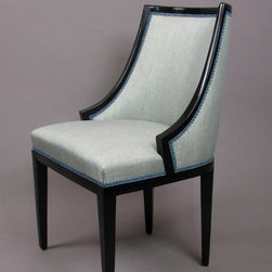 Victoria Tub Side Chair - The side chair mate to the Victoria Tub bergere, designed by Tony and Freddy Victoria, with characteristic coved back and sweeping sides for a snug, comfortable seat.