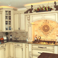 Mediterranean Kitchen by M M Design, LLC