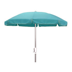 Fifthroom - 7.5' Octagon Traditional Sunbrella Umbrella w/Aluminum Pole and Manual Lift - If you're looking for insurance for all kinds of weather, this 7.5' Umbrella will give you full coverage.  Made from durable Sunbrella fabric, it offers protection from up to 98% of the sun's UV rays.  When conditions get tough, it stands up to high winds, and shields you from the rain.  Available in 20 smashing colors, it's also guaranteed to complement the d�cor of any porch, patio, deck, or gazebo.