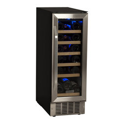 EdgeStar - EdgeStar 12-Inch Black/Stainless Steel 18 Bottle Built-In Wine Cooler - For those looking to install a wine cooler underneath counters and flush with existing cabinetry without taking up a lot of space,choose the EdgeStar 12-Inch 18 Bottle Built-In Wine Cooler.