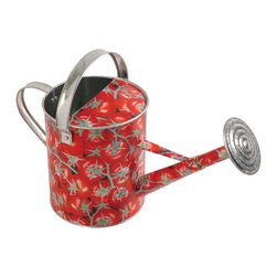 Esschert Design - Galvanized Watering Can - Tomatoes - Tomato Print Galvanized Watering Can 18inx 8.3inx 8.9in