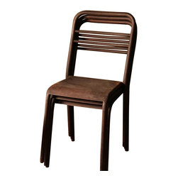 BoBo's Intriguing Objects - Louie Stacking Chair - When you throw a bash, the more the merrier — and that means extra seating on demand. These café chairs are the solution: They've got a cool, rusted-iron patina that's perfect for a patio, and they stack neatly for storage when the party's over.