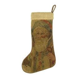 EuroLux Home - New Aubusson Christmas Stocking Santa Claus - Product Details