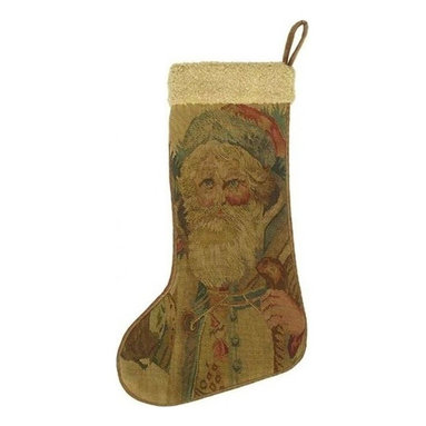 EuroLux Home - New Aubusson Christmas Stocking, Santa Claus - Product Details