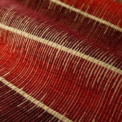 About Time Upholstery in Sonoma - About Time Chenille Stripe Upholstery Fabric Sonoma Red & Orange Brick. Durable synthetic blend perfect for upholstering furniture, drapery, or pillows.
