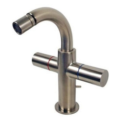 "Hansgrohe - Hansgrohe Axor Uno 2 Handle Brushed Nickel Bidet Faucet 38222821 - Hansgrohe ""Axor Uno""  2 Handle Bidet Faucet."