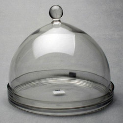 Home Decorators Collection - Large Glass Cheese Dome with Plate - Artisan cheeses and scrumptious desserts are irresistible when displayed under this handcrafted Large Glass Cheese Dome. With a decorative, glass knob on top of the dome for easy lifting, it might be hard to keep guests from nibbling goodies before dinner. Buy one today to show off at your next gathering. Made from 100% hand blown glass. Decorative, footed base included. Hand wash.
