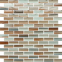 Rocky Point Tile - Sunset Beach Hand Painted Glass Mosaic Subway Tile - You can add any amount of tile to a room and make a huge improvement in the overall look. Adding these striking, hand-painted glass mosaic tiles takes it to a whole other level of fabulous.