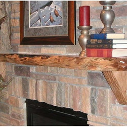 Kettle Moraine Hardwoods - Kettle Moraine Hardwoods Emmett Carved Rustic Walnut Mantel Shelf Brown - 6 FT. - Shop for Mantels and Trim from Hayneedle.com! A Kettle Moraine Hardwoods Emmett Natural Rustic Walnut Mantel Shelf brings true rustic charm to any living room. This single beam of beautifully finished walnut has been sawed planed sanded chiseled and finished by hand for a totally unique look and durability that can't be matched by replicas. Each piece is unique but the Emmett is about 6 feet long and features a curved bare wood front.