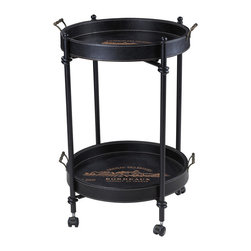 Sterling Industries - French Chateau Tray Table - This Sterling French Chateau tray table is made of metal and faux leather material. It brings your home a touch of elegance with traditional design. Comes with Jacques black finish.