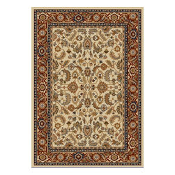 """Safavieh - Teodora Rug, Creme / Red 9'6"""" X 13' - Construction Method: Power Loomed. Country of Origin: Turkey. Care Instructions: Vacuum Regularly To Prevent Dust And Crumbs From Settling Into The Roots Of The Fibers. Avoid Direct And Continuous Exposure To Sunlight. Use Rug Protectors Under The Legs Of Heavy Furniture To Avoid Flattening Piles. Do Not Pull Loose Ends; Clip Them With Scissors To Remove. Turn Carpet Occasionally To Equalize Wear. Remove Spills Immediately. The dramatic patterns of heirloom Serape, Sultanabad and Oushak rugs are recreated for 21st century lifestyles in the Austin Collection. Power-loomed of long-wearing, easy-care polypropylene, each rug stands up to heavy traffic while adding timeless beauty to entry hall, living room, kitchen and more."""