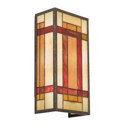 Joshua Marshal - Two Light Patina Bronze Wall Light - Two Light Patina Bronze Wall Light