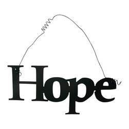 Inspirational Word HOPE Wall Hanging Home Decor Metal - This listing is for one inspirational word, HOPE