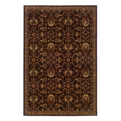 """Oriental Weavers - Transitional Amelia Hallway Runner 2'6""""x7'9"""" Runner Brown-Beige Area Rug - The Amelia area rug Collection offers an affordable assortment of Transitional stylings. Amelia features a blend of natural Brown-Beige color. Machine Made of Polypropylene the Amelia Collection is an intriguing compliment to any decor."""