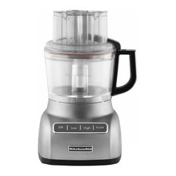 KitchenAid KFP0922 9 Cup Food Processor - Contour Silver - The sleek look and durable design of the KitchenAid KFP0922 9 Cup Food Processor - Contour Silver make it a favorite kitchen accessory. An ultra-wide mouth feed tube accommodates many sizes of food, while the Exact Slice System makes easy work of anything. You'll marvel at the ease of which amazing dishes will come out of your kitchen.