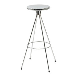 Eurostyle - Caroline-Bs Swlvel Bar Stool (Set Of 4)-Chr - Chromed steel seat