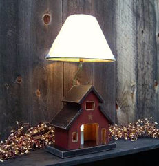 eclectic table lamps by Raystown Primitives