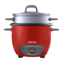 Aroma - Aroma 6-cup Rice Cooker - Enjoy easy home cooking with this Aroma 6-cup Rice Cooker and Food Steamer. Prepare two to six cups of restaurant-quality rice at the press of a switch.