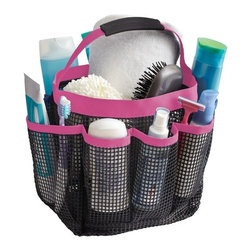 Great Useful Stuff - Kangaroom Mesh Bath Tote - 100% waterproof and washable, our Mesh Bath Tote is a super versatile and spacious carry-all for every occasion. Its unique, flexible neoprene handle allows for easy carrying to the beach, pool, shower, picnic table, craft room, or summer camp cabins. Various sized pockets accommodate bulky items as well as smaller accessories, while large meshing allows you to see what you're grabbing and lets water or sand flow right through!