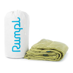 "Rumpl, Inc. - King, Fern/Moss, 102"" X 84"", Paria - Replace your tired comforter with something a little sleeker, cozier, and more high-performance. Warm, water resistant, machine washable, and durable. Comes with a recycled cotton carry bag. Just give it one night and you'll be hooked..."