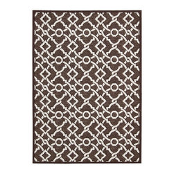 """Waverly - Waverly Wav16 Treasures WTR01 2'6"""" x 8' Darjeeling Tea Area Rug 23489 - This boldly graphic Artistic Twist area rug by Waverly for Nourison brings a spontaneous burst of sophisticated energy to any area it inhabits. A fabulous twisted yarn texture and unforgettable two-tone color palette of crisp white and deep marine blue only add to the appeal."""